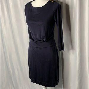 Tory Burch Navy 100% Silk dress